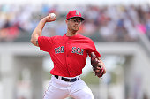 Joe Kelly of the Boston Red Sox pitches during the first inning of the Spring Training Game against the Pittsburgh Pirates on March 14 2016 at Jet...