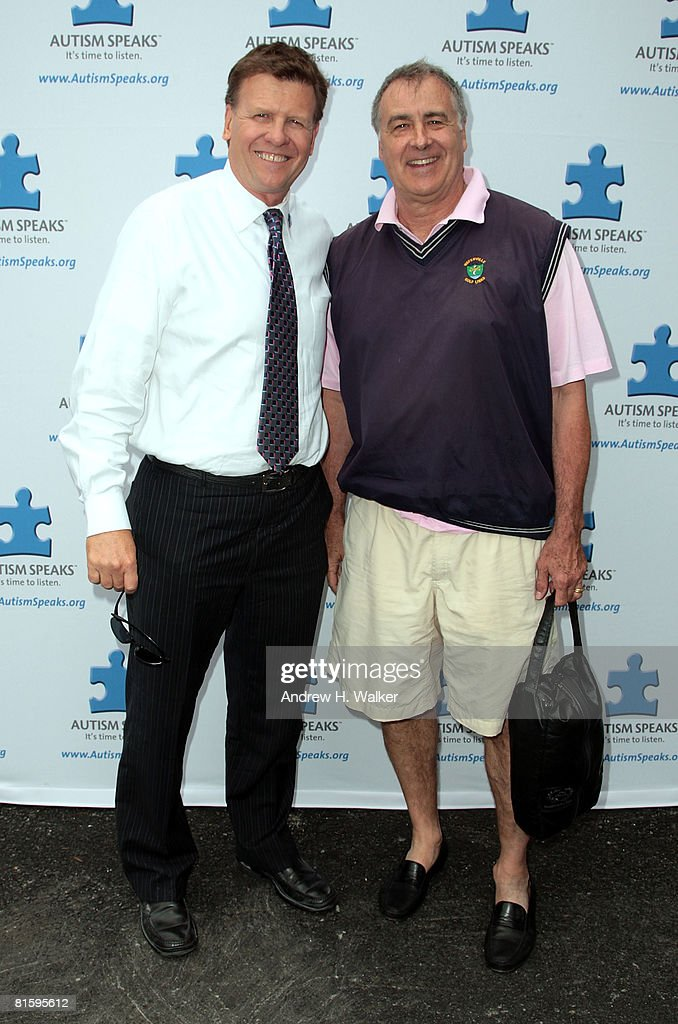 Joe Kernen and Gail Goodrich attend the Autism Speaks Tenth Annual NY Celebrity Golf Challenge at the Winged Foot golf Club on June 16 2008 in...
