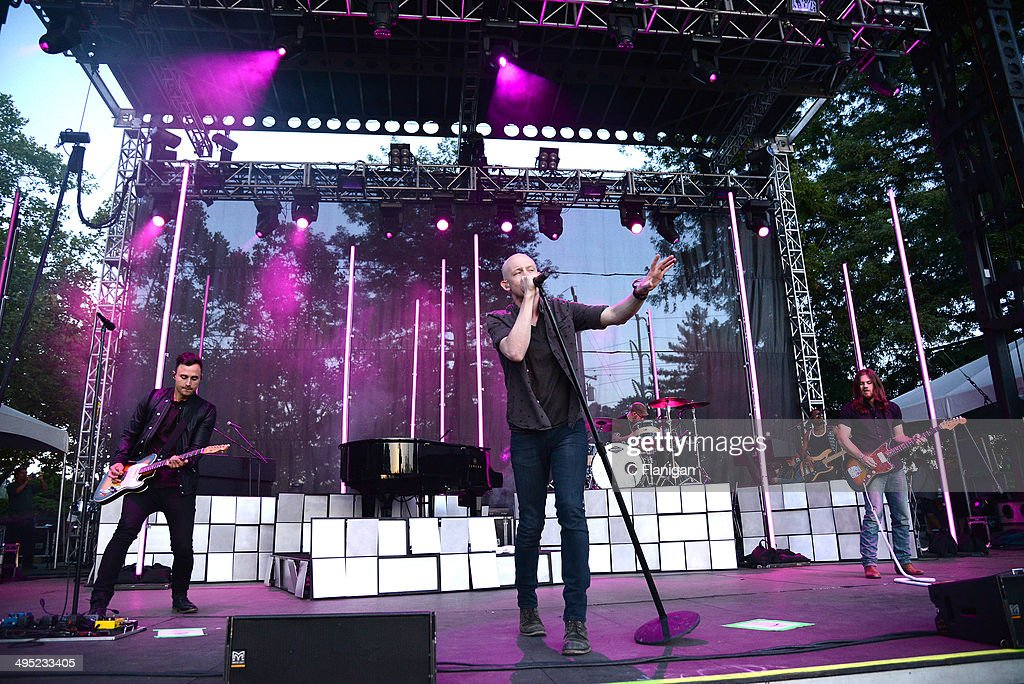 Joe King, Isaac Slade and David Welsh of The Fray perform during the 2014 Bottlerock Music Festival at Napa Valley Expo on June 1, 2014 in Napa, California.