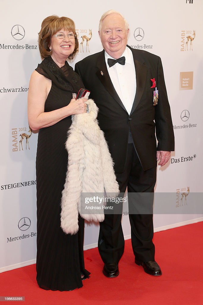 Joe Kittinger and wife Sherry attend 'BAMBI Awards 2012' at the Stadthalle Duesseldorf on November 22, 2012 in Duesseldorf, Germany.