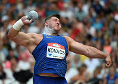 Joe Kovacs of United States in action during Mens Shot Put on day two of the Muller Anniversary Games at The Stadium Queen Elizabeth Olympic Park on...