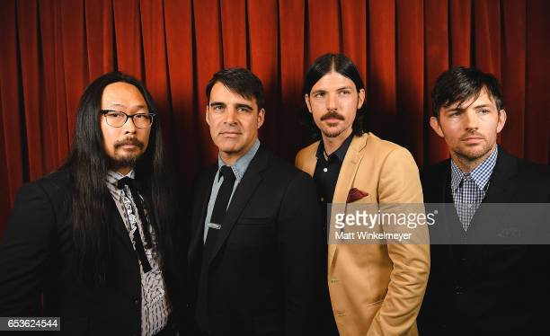 Joe Kwon Bob Crawford Seth Avett and Scott Avett of The Avett Brothers pose for a portrait at the 'May It Last A Portrait Of The Avett Brothers'...