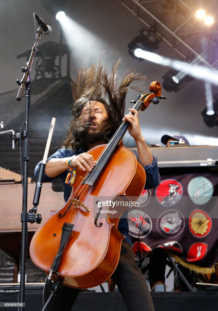 Joe Kwon of The Avett Brothers performs on the Sutro Stage during the 2017 Outside Lands Music And Arts Festival at Golden Gate Park on August 12, 2017 in San Francisco, California.