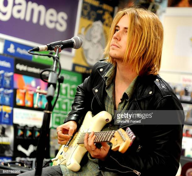 Joe LangridgeBrown of Nothing But Thieves performs live and signs copies of their new album 'Broken Machine' at HMV Manchester on September 11 2017...