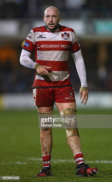Joe Latta of Gloucester during the Anglo Welsh Cup match between Bath Rugby and Gloucester Rugby at the Recreation Ground on January 27 2017 in Bath...