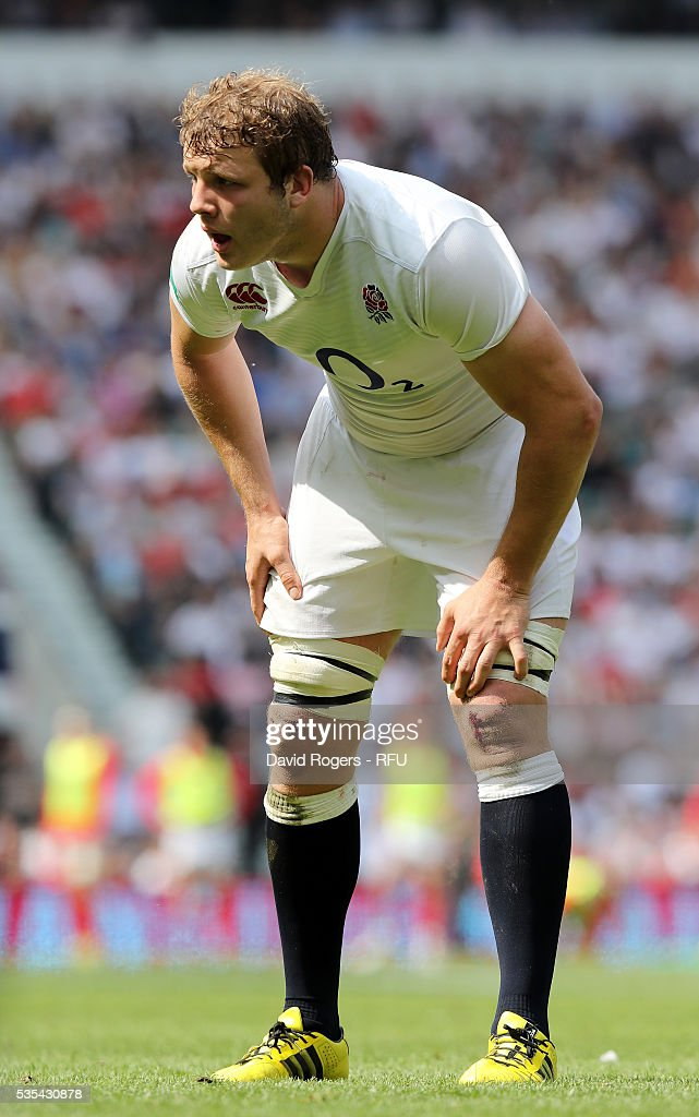 <a gi-track='captionPersonalityLinkClicked' href=/galleries/search?phrase=Joe+Launchbury&family=editorial&specificpeople=7440712 ng-click='$event.stopPropagation()'>Joe Launchbury</a> of England looks on during the England v Wales International match at Twickenham Stadium on May 29, 2016 in London, England.