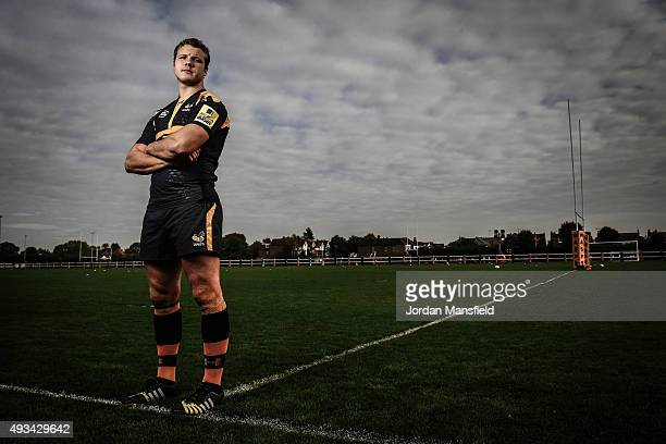 Joe Launchbury of Wasps poses for a portrait during a Wasps Media Session at Twyford Avenue Sports Ground on October 20 2015 in Acton England