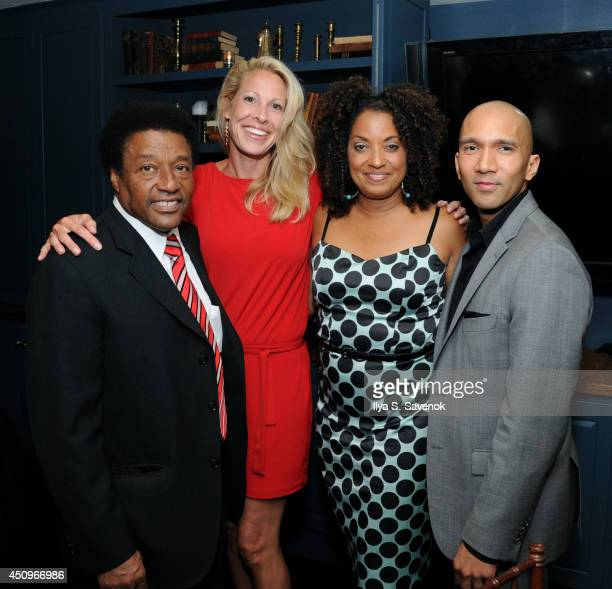 Joe Lawson Karen Lorenz Television personality Rene Syler and ASPiRE GM Paul Butler attend the 2014 ABFF_ UP TV Aspire TV Dinner at Soho House on...