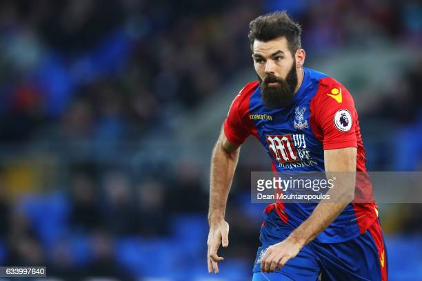 Joe Ledley of Crystal Palace looks on during the Premier League match between Crystal Palace and Sunderland at Selhurst Park on February 4 2017 in...