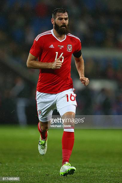 Joe Ledley of Wales during the International Friendly match between Wales and Northern Ireland at Cardiff City Stadium on March 24 2016 in Cardiff...