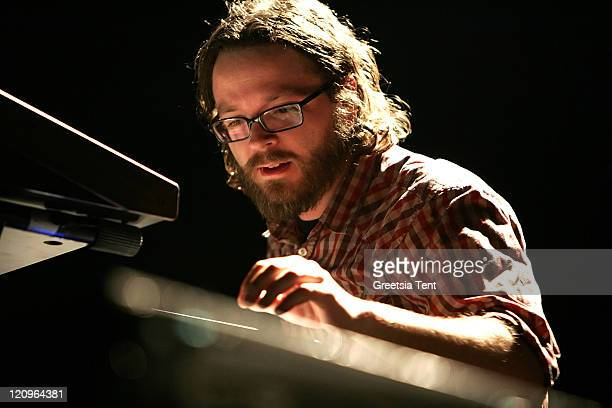 Joe Lester of Silversun Pickups perform on stage at the Heineken Music Hall on November 14 2007 in Amsterdam The Netherlands