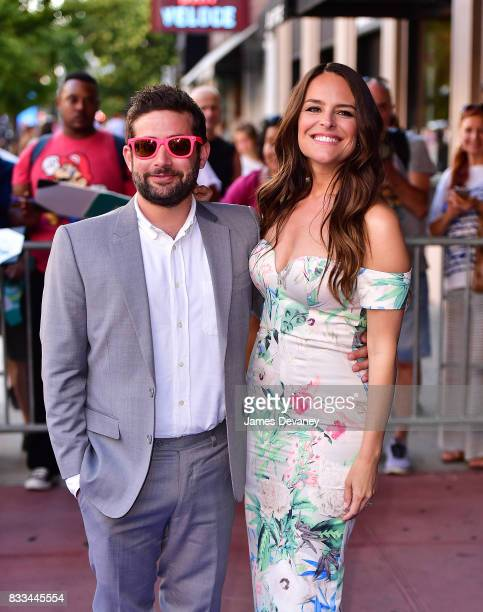 Joe Lewis and Yara Martinez arrive to 'The Tick' Blue Carpet Premiere at Village East Cinema on August 16 2017 in New York City