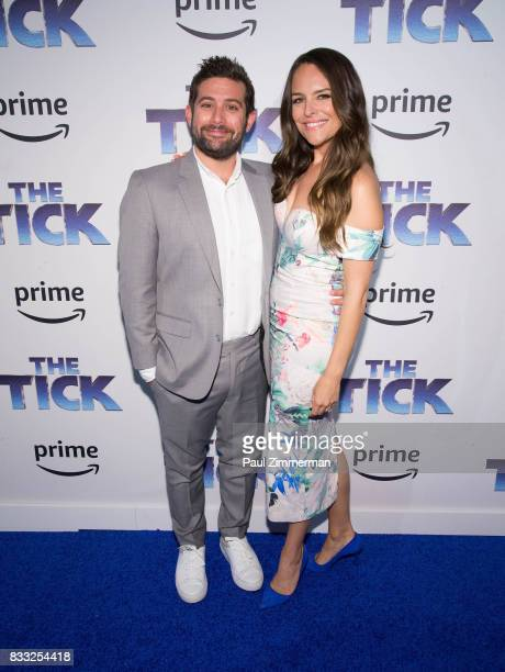 Joe Lewis and Yara Martinez attend 'The Tick' Blue Carpet Premiere at Village East Cinema on August 16 2017 in New York City