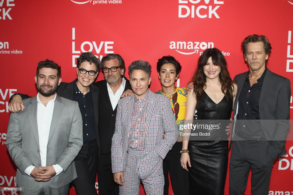 Joe Lewis, Sarah Gubbins, Griffin Dunne, Jill Soloway, Roberta Colindrez, Kathryn Hahn and Kevin Bacon attend the Premiere Of Amazon's 'I Love Dick' at Linwood Dunn Theater on April 20, 2017 in Los Angeles, California.