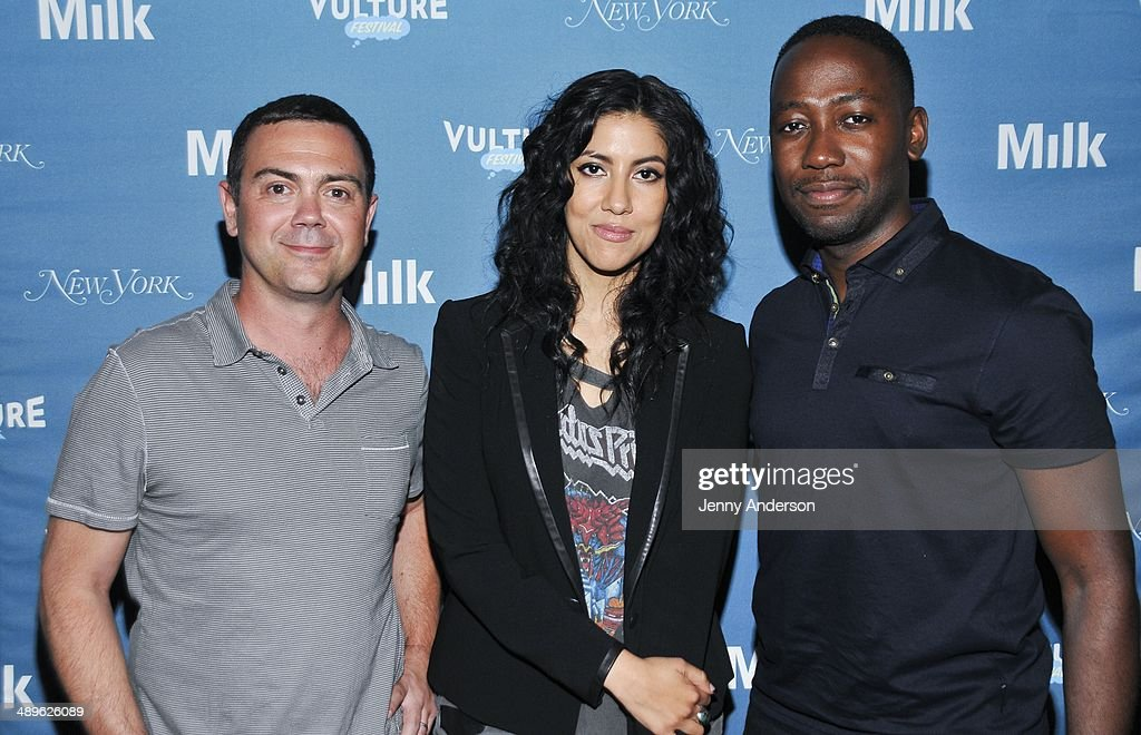 Joe Lo Truglio Stephanie Beatriz and Lamorne Morris attend Pop Culture Trivia Night at the 2014 Vulture Festival at Milk Studios on May 11 2014 in...