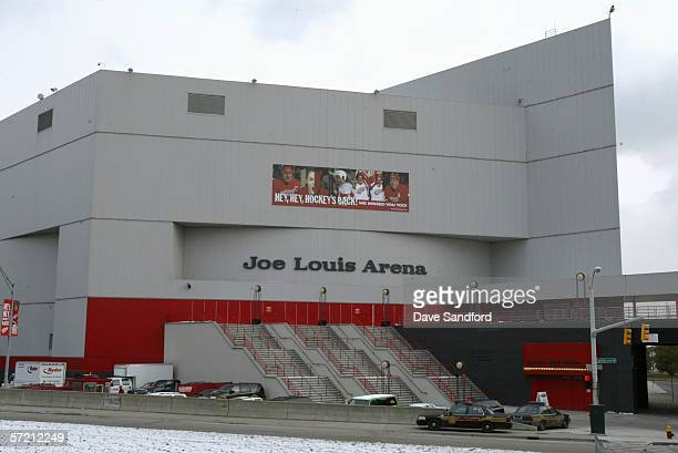 Joe Louis Arena is shown before the Detroit Red Wings game against the Nashville Predators on February 8 2006 in Detroit Michigan The Red Wings won 60