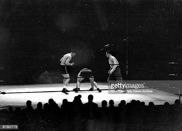 Joe Louis vs Max Schmeling Both hands on the canvas Max tries to get his bearings No dice He was back in his native Germany as far as last night's...
