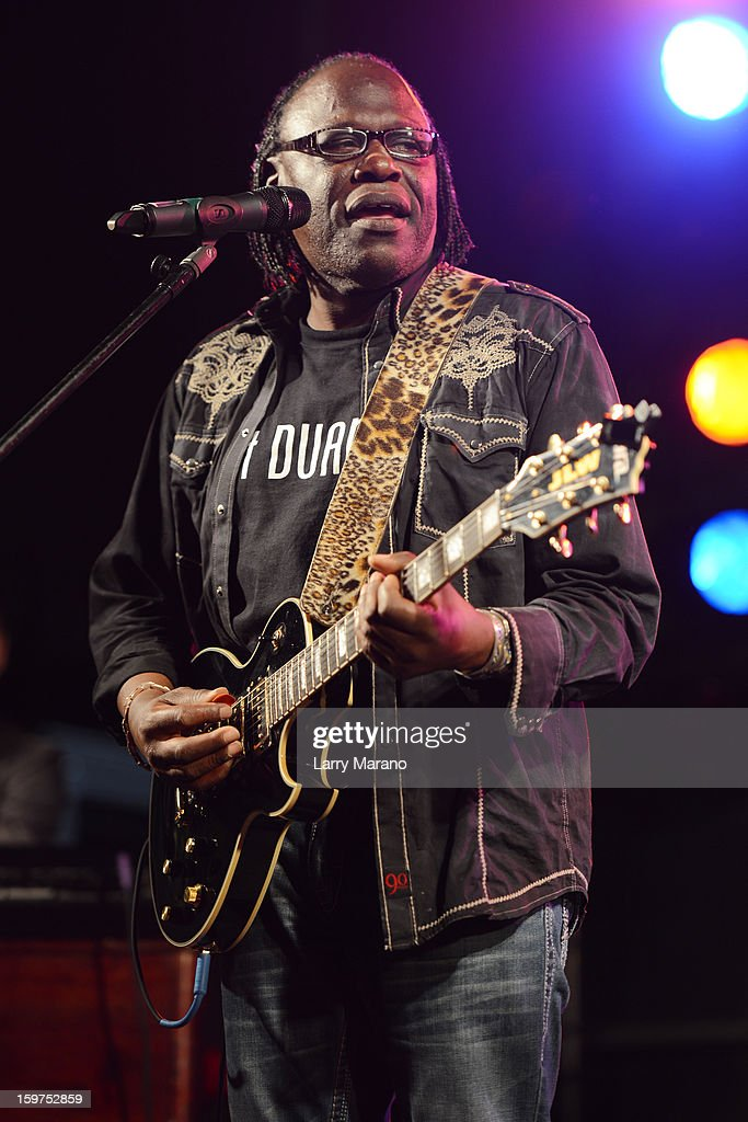 Joe Louis Walker performs during the Sunshine Blues Festival at Mizner Park Amphitheatre on January 19, 2013 in Boca Raton, Florida.