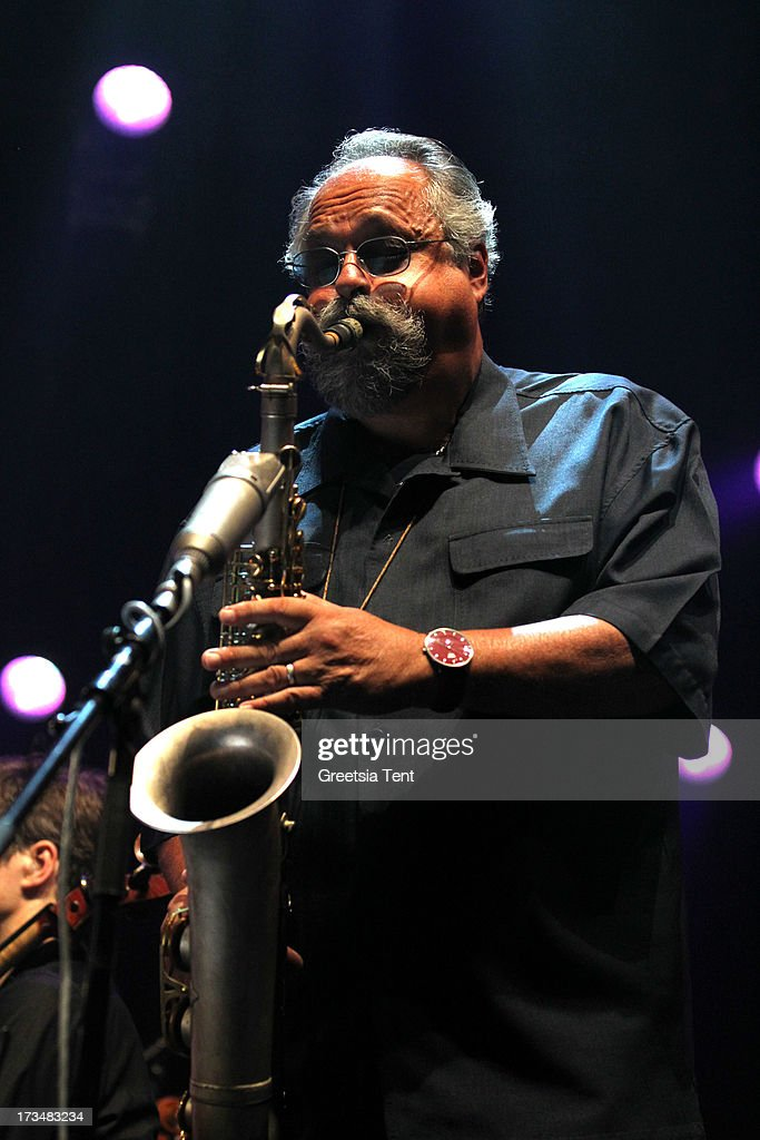 <a gi-track='captionPersonalityLinkClicked' href=/galleries/search?phrase=Joe+Lovano&family=editorial&specificpeople=2246494 ng-click='$event.stopPropagation()'>Joe Lovano</a> performs at day three of the North Sea Jazz Festival at Ahoy on July 14, 2013 in Rotterdam, Netherlands.