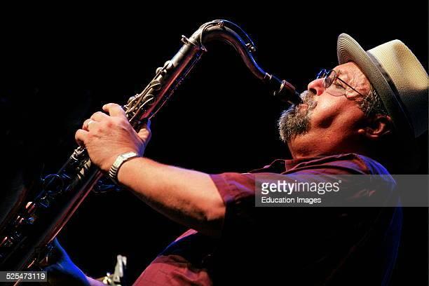 Joe Lovano Plays Saxophone With The John Patitucci Trio At The 2009 Monterey Jazz Festival California