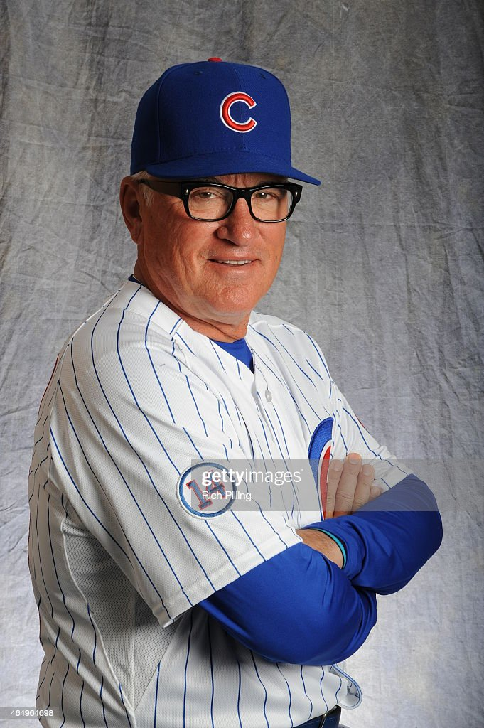 Joe Maddon #70 of the Chicago Cubs poses for a portrait during Photo Day on March 2, 2015 at Sloan Park in Mesa, Arizona.