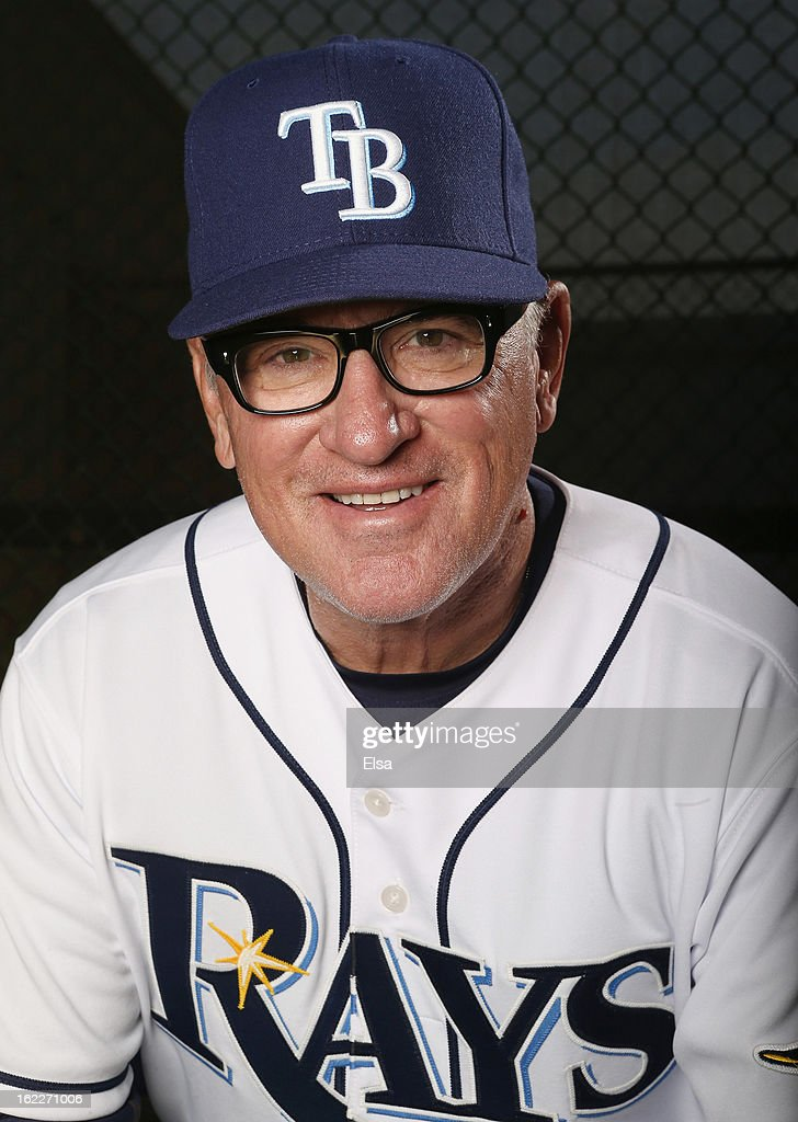 <a gi-track='captionPersonalityLinkClicked' href=/galleries/search?phrase=Joe+Maddon&family=editorial&specificpeople=568433 ng-click='$event.stopPropagation()'>Joe Maddon</a> #70 of the Tampa Bay Rays poses for a portrait on February 21, 2013 Charlotte County Sports Park in Port Charlotte, Florida.