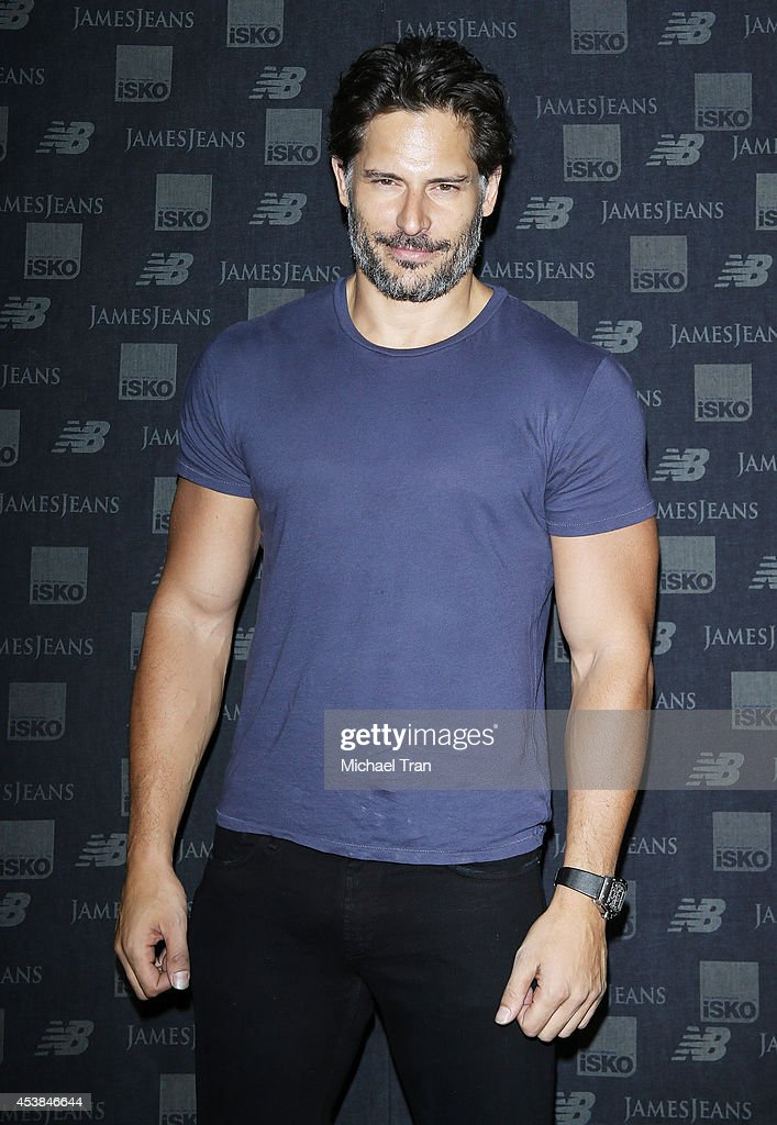 <a gi-track='captionPersonalityLinkClicked' href=/galleries/search?phrase=Joe+Manganiello&family=editorial&specificpeople=2516889 ng-click='$event.stopPropagation()'>Joe Manganiello</a> arrives at the dance party with New Balance and James Jeans powered by ISKO held at a private residence on August 19, 2014 in Beverly Hills, California.