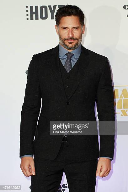 Joe Manganiello arrives at the 'Magic Mike XXL' Australian premiere on July 6 2015 in Sydney Australia