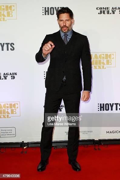 Joe Manganiello arrives at the 'Magic Mike XXL' Australian premiere on July 6 2015 in Sydney Australia