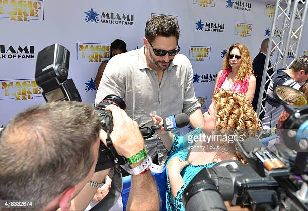 Joe Manganiello attends Magic Mike XXL cast honored with stars on The Official Miami Walk Of Fame at Bayside Marketplace on June 24 2015 in Miami...