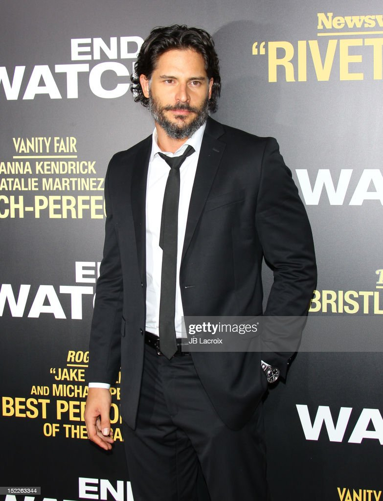 <a gi-track='captionPersonalityLinkClicked' href=/galleries/search?phrase=Joe+Manganiello&family=editorial&specificpeople=2516889 ng-click='$event.stopPropagation()'>Joe Manganiello</a> attends the 'End Of Watch' Los Angeles premiere at Regal Cinemas L.A. Live on September 17, 2012 in Los Angeles, California.
