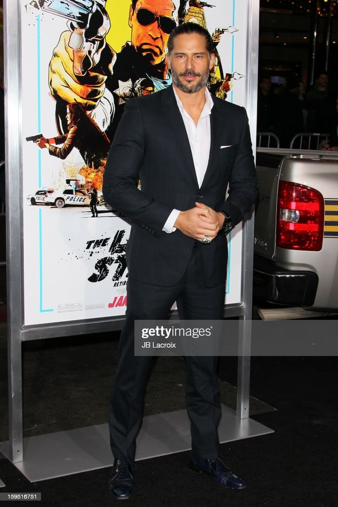 <a gi-track='captionPersonalityLinkClicked' href=/galleries/search?phrase=Joe+Manganiello&family=editorial&specificpeople=2516889 ng-click='$event.stopPropagation()'>Joe Manganiello</a> attends 'The Last Stand' - Los Angeles Premiere at Grauman's Chinese Theatre on January 14, 2013 in Hollywood, California.