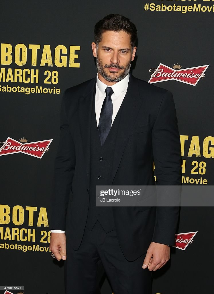 <a gi-track='captionPersonalityLinkClicked' href=/galleries/search?phrase=Joe+Manganiello&family=editorial&specificpeople=2516889 ng-click='$event.stopPropagation()'>Joe Manganiello</a> attends the 'Sabotage' Los Angeles premiere held at Regal Cinemas L.A. Live on March 19, 2014 in Los Angeles, California.