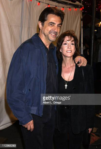 Joe Mantegna and Diane Martin during The Feast of San Gennaro Presented by Precious Cheese Day 1 at Hollywood Ivar Lot in Hollywood California United...