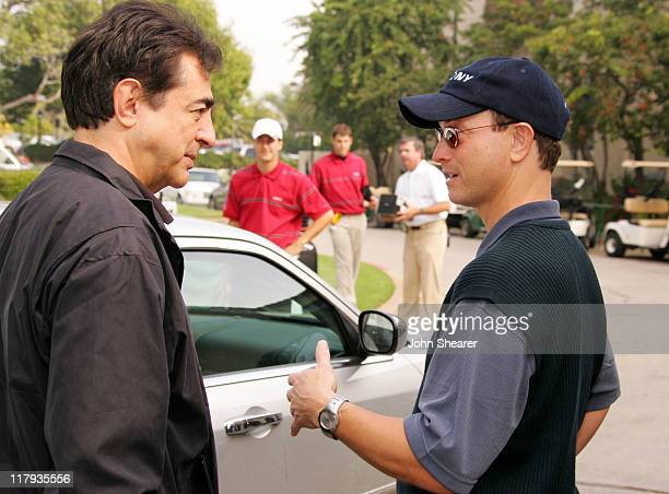 Joe Mantegna and Gary Sinise during Golf Digest Celebrity Invitational to Benefit the Prostate Cancer Foundation at Riviera Country Club in Pacific...