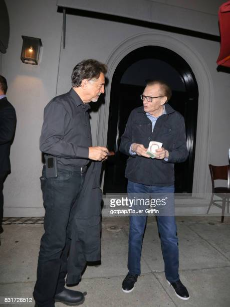Joe Mantegna and Larry King are seen on August 14 2017 in Los Angeles California
