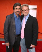 Joe Mantegna and Mark Thompson screenwriter during 'Mother Ghost' Los Angeles Premiere Arrivals at Universal City Walk in Universal City California...