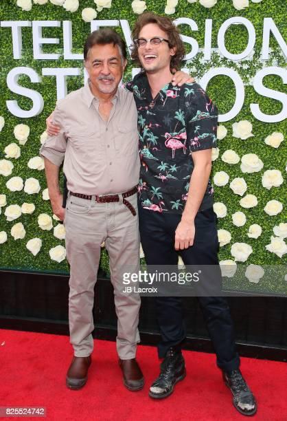 Joe Mantegna and Matthew Gray Gubler attend the 2017 Summer TCA Tour CBS Television Studios' Summer Soiree on August 01 in Studio City California