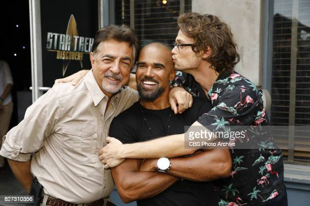 Joe Mantegna Shemar Moore and Matthew Gray Gubler at the CBS Summer soirée held on August 1 2017 in Los Angeles CA