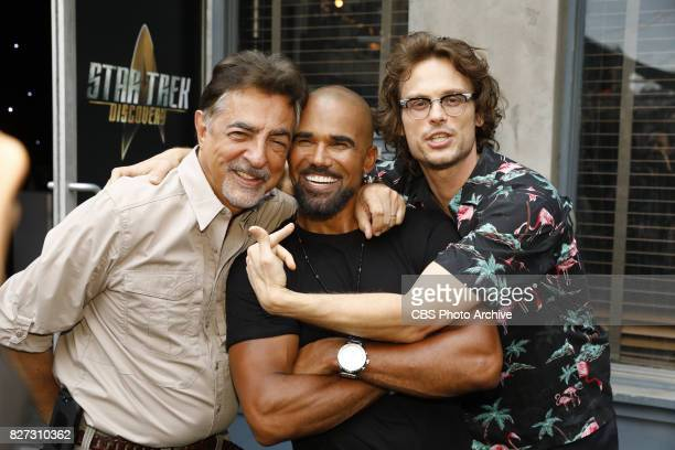 Joe Mantegna Shemar Moore and Matthew Gray Gubler at the CBS Summer soirée held on August 1 2017 in Los Angeles CA