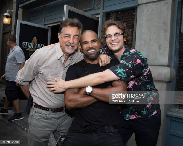 Joe Mantegna Shemar Moore and Matthew Gray Gubler at the CBS Summer soirée for the annual TCA press tour held on August 1 2017 in Los Angeles CA