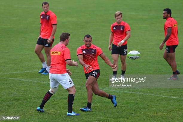 Joe Marchant of Harlequins in action during a training session at the AdiDassler Stadion on August 2 2017 in Herzogenaurach Germany