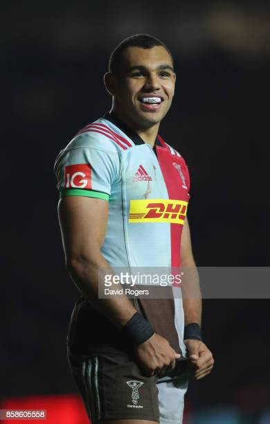 Joe Marchant of Harlequins looks on during the Aviva Premiership match between Harlequins and Sale Sharks Sharks at Twickenham Stoop on October 6...