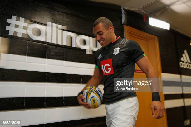 Joe Marchant of Harlequins walks down the tunnel prior to the Aviva Premiership match between Harlequins and Exeter Chiefs at Twickenham Stoop on...