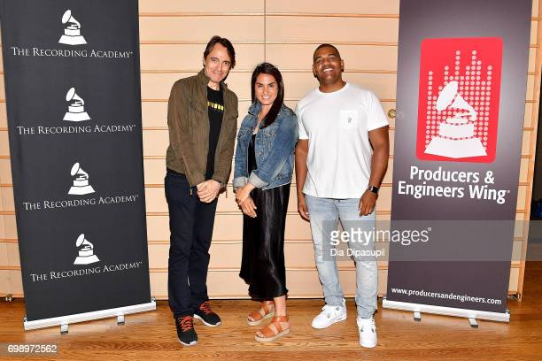 Joe Mardin Emily Lazar and Ken 'Duro' Ifill attend the GRAMMY Pro Art of the Craft The Listening Sessions at The DiMenna Center on June 20 2017 in...