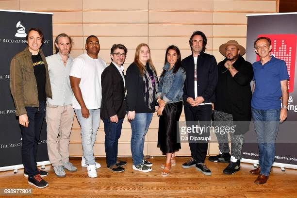 Joe Mardin Scott Jacoby Ken 'Duro' Ifill Nick Cucci Ann Mincieli Emily Lazar Tom Elmhirst Erik 'Rook' Ortiz and Kevin Killen attend the GRAMMY Pro...