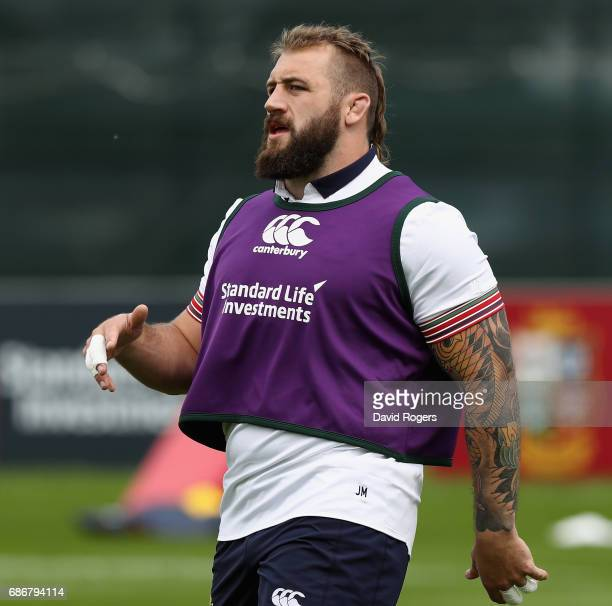 Joe Marler looks on during the British and Irish Lions training session held at Carton House Golf Club on May 22 2017 in Maynooth Ireland