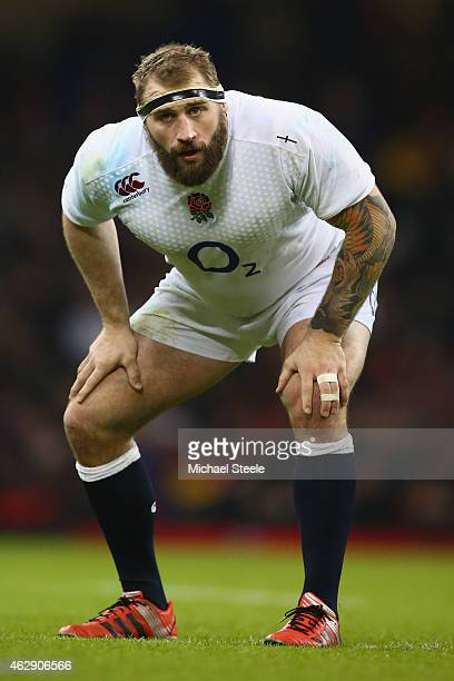 Joe Marler of England during the RBS Six Nations match between Wales and England at the Millennium Stadium on February 6 2015 in Cardiff Wales