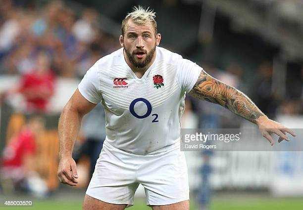 Joe Marler of England looks on during the International match between France and England at Stade de France on August 22 2015 in Paris France