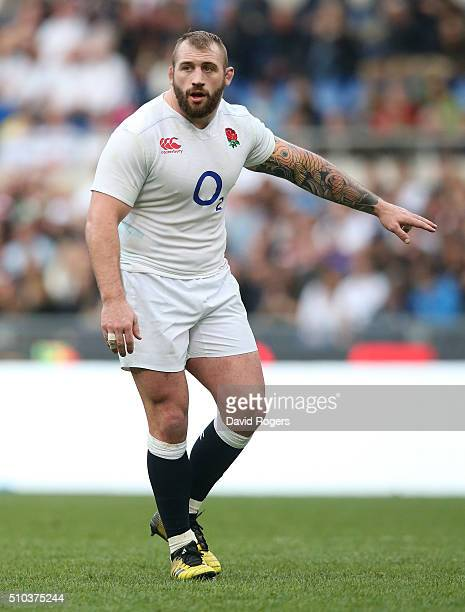 Joe Marler of England looks on during the RBS Six Natiions match between Italy and England at the Stadio Olimpico on February 14 2016 in Rome Italy
